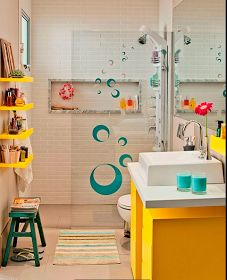 Diseño de Baños en Espacios Pequeños by artesydisenos.blogspot.com
