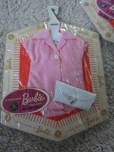 Vintage Barbie Fashion Pak Pink blouse and Purse MOC NRFC