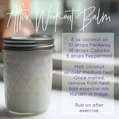 After Workout Balm Panaway Essential Oil, Essential Oils For Headaches, Young Living Oils, Young Living Essential Oils, Roller Bottle Recipes, Yl Oils, Copaiba, Holistic Remedies, Natural Remedies