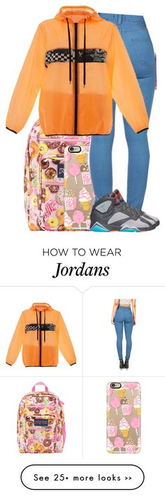 """!"" by dimpleface-tyler on Polyvore featuring JanSport, Casetify and MSGM"
