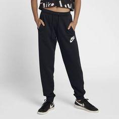 Nike Sportswear Rally Women's Pants Size S (Black) Nike Pants For Women, Trousers Women, Nike Women, Clothes For Women, Women's Trousers, Fleece Pants, Women's Pants, Joggers Womens, Black White Fashion
