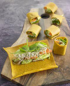 Crepe de calabaza, aguacate y germinados | Delicooks | Good Food Good Life