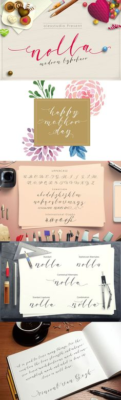 Nella #script is another lovely modern #calligraphy #typefaces and elegant touch.