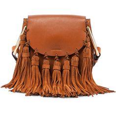 Chloe Hudson Mini Fringe Shoulder Bag (€2.045) ❤ liked on Polyvore featuring bags, handbags, shoulder bags, purses, caramel, shoulder strap purses, accessories handbags, mini shoulder bag, brown purse and shoulder strap bag