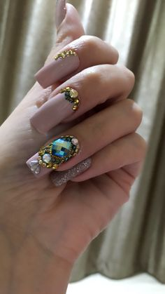 Milena, Creative Things, Nail Artist, Coffin Nails, Sapphire, Nail Designs, Turquoise, Rings, Jewelry