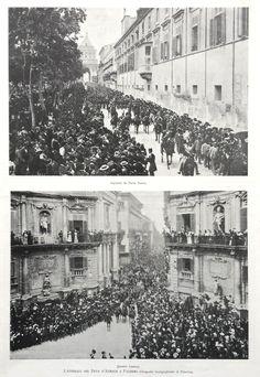 1897 Stampa FUNERALI DUCA D'AUMALE PALERMO | Fratelli Treves editori - Milano, 1897