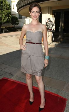 """Maggie Siff arrives at the series one premiere screening of FX Network's """"Sons of Anarchy"""""""