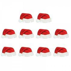 7d5dd8228ca Christmas Santa Hat Wine Glass Decoration New Year Party Supplies 10PCS -  MULTI - 10PCS Xmas
