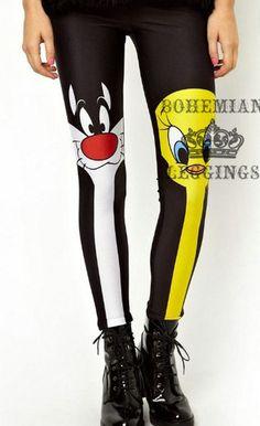 Cartoon Print Leggings