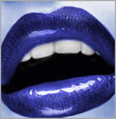 .nice blue lips