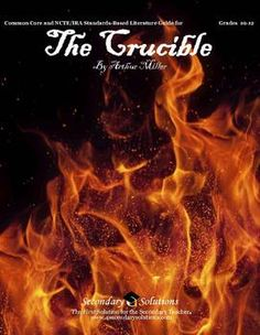 This Secondary Solutions Literature Guide for The Crucible by Arthur Miller contains 72 pages of student coursework, activities, quizzes, tests, and much more aligned with the Common Core State Standards and NCTE/IRA National ELA Standards for tenth through twelfth grade. $24.95