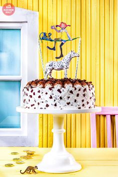 Children's birthday cake recipe decorated with Pippi Longstocking – DIY Kindergeburtstag Essen – birthday Diy Birthday Cake, Girl Birthday, Birthday Parties, Delicious Cake Recipes, Yummy Cakes, Pippi Longstocking, Girl Cakes, Cake Decorating, Birthdays