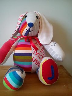 Handmade Custom Memory Bunny - Wonderful Memory Softie Keepsake on Etsy, $50.68