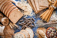 Stock Photo : Dietary fiber food still life Slow Carb Diet, High Carb Diet, Healthy Grains, Healthy Eating, Keeping Healthy, Bland Diet, Vegetable Protein, Fiber Foods, Plant Based Diet