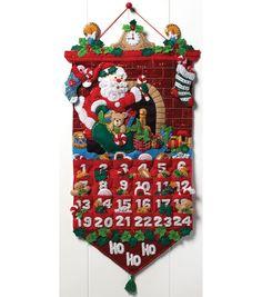 Must Be Santa Advent Calendar Felt Applique Kit-13
