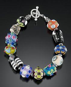 Mixed Bead Sampler Bracelet: Bernadette Mahfood: Beaded Bracelet   Artful Home