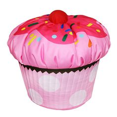 Yea....its a chair..and yea, its awesome!  and no its not edible, but i wish it was, how cool would this be in a teen room, yep I've got a giant cupcake in my room, talk about SWEET!!!!!!!