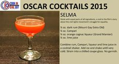 Oscar Cocktails: Selma (recipe card) rum, Campari, Grand Marnier, lime juice #OscarCocktails
