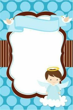 Invitaciones de BAUTIZO para Niño y Niña Bonitas y Originales Baptism Invitation For Boys, Christening Invitations Boy, Baby Boy Baptism, Baby Boy Shower, Baby Shower Clipart, Paw Patrol Invitations, Invitation Layout, Free Printable Invitations Templates, Baptism Cards