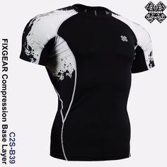 FixGear Base Layer/Compression top/Rash guard/MMA/BJJ/fitness top Size 3XL