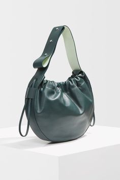 Infuse some soft colour in to your bag colleciton with this green drawstring bag. Leather Drawstring Bags, Topshop Unique, Soft Colors, You Bag, What To Wear, Jewelry Accessories, Asos, Handbags, Purses