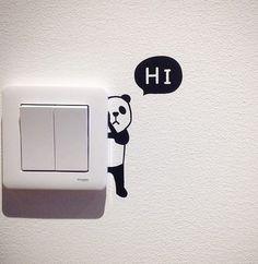 Panda seinätarra - MaxPlay