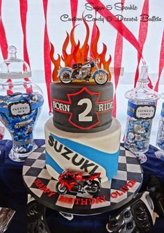 15 Cool Biker Birthday Party Decorations | Party Decoration Ideas