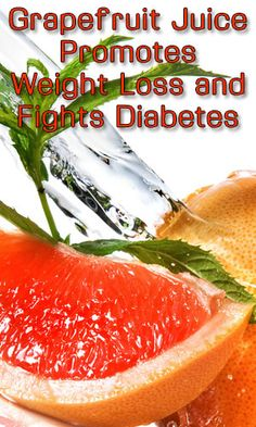 Can drinking grapefruit juice induce weight loss and lower the risk of developing diabetes?