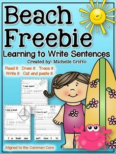 Here is a freebie to sample my Seasonal Sentence Packs!This pack is designed to teach students to read and write simple sentences and words.  The sheets contain a sentence to read, trace, write, draw (sometimes), and cut and paste. The sentences use predictable sentence stems.