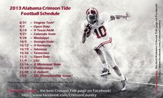 2013 Alabama Football Schedule, are you ready?