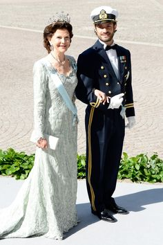 Queen Silvia and Prince Carl Philip