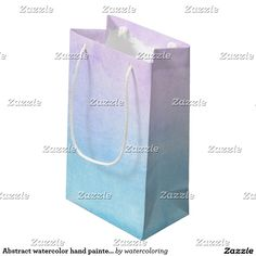 Abstract watercolor hand painted background 18 small gift bag