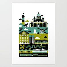 Buy Helsinki Art Print by koivo. Worldwide shipping available at Society6.com. Just one of millions of high quality products available.