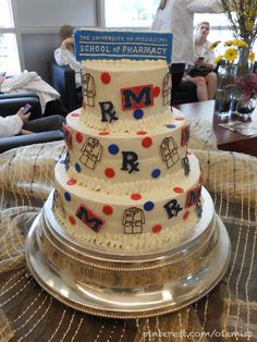 This is awesome inspiration for Ole Miss pharmacy graduation! Jennie this one is for you!!!!!!