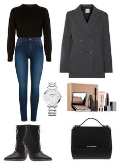 """Outfit"" by lilyhastings98 on Polyvore featuring moda, Helmut Lang, Pieces, Givenchy, Sea, New York, Sephora Collection ve Baume & Mercier"