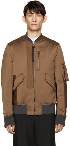 eb9ff90ed $2,590, Lanvin Brown Washed Satin Bomber Jacket. Sold by SSENSE. Click for  more