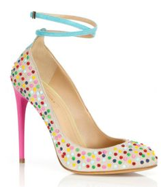 """Aquazzura Candy Studs Daquiri Pumps, 775 euros """"Hey, those remind me of candy!"""" I thought when first I laid eyes on these Aquazzura pumps. Stiletto Shoes, High Heels Stilettos, Shoes Heels, Pretty Shoes, Beautiful Shoes, Awesome Shoes, Wrap Shoes, Colorful Shoes, Up Girl"""