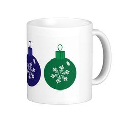 Christmas Baubles Mug #Christmas #Baubles #Mug #Coffee