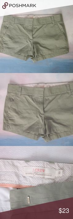 J. Crew Olive Green Chino 10 Gently worn - excellent condition! More shorts in my closet. Bundle for best deals!  IG: the.junk.drawer J. Crew Shorts