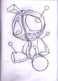 voodoo doll sketch - Google zoeken