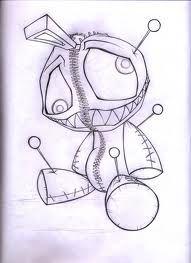 voodoo doll sketch - Google zoeken