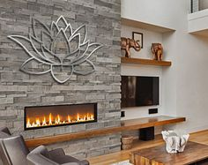 Metal Wall Art Decorative Laser Cut Panel Sculpture For Home Office Indoor or Outdoor Use (Lotus Flower) & Lotus Flower Metal Wall Art - Lotus Metal Art - Home Decor - Metal ...