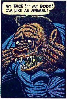 Basil Wolverton, a Golden Age creator, whose work was mostly comic, but always ghastly and off-beat Vintage Comic Books, Vintage Comics, Comic Books Art, Comic Art, Book Art, Horror Comics, Horror Art, Comic Book Panels, Creepy Art