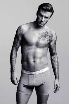 David Beckham H&M underwear Launch London