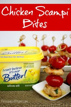 {can I get a repin?} Chicken Scampi Bites melt in your mouth! RECIPE http://freebies4mom.com/scampibites #ad It's #timetobelieve I Can't Believe It's Not Butter!® is better!