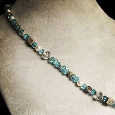 Apatite bracelet with pearls and Thai silver beads #andidaniedesigns #handmade #jewelry #etsy #etsyworld #madeinusa #shopsmall #smallbusiness #shophandmade #summerstyle #handmadeaccessories #handmadeisbetter #apatite #gemstonebracelet #thaisilver by andidaniedesigns
