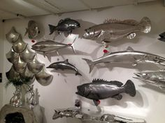 Silverleaf and aluminum fish. Phillips Collection.