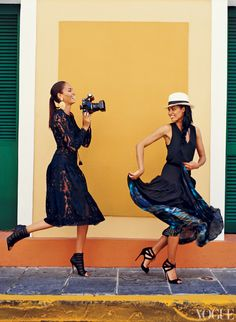 Joan and Erika Smalls in Puerto Rico  Photographed by Norman Jean Roy