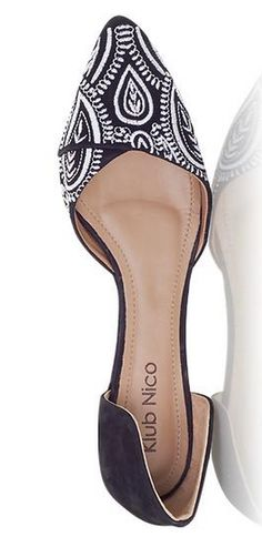 black and white embroidered toe flats  http://rstyle.me/~40BsU