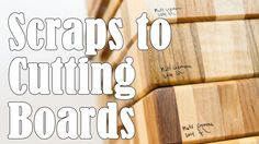 A few times every year, I go through all my scrap wood and make end grain cutting boards. I organize the wood that I want to use into groups depending on len...